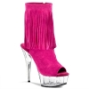 DELIGHT-1019 Fuchsia Suede/Clear